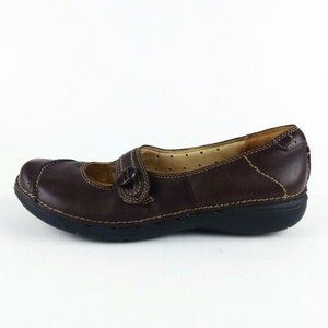 Clarks UnStructured Brown Mary Jane Shoes 6.5M